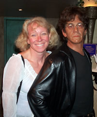 Anny with wax Lou Reed, since SXSW won't let me take a photo