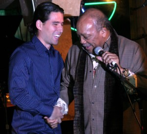 "Alfredo Rodriguez and ""patron"" Quincy Jones"