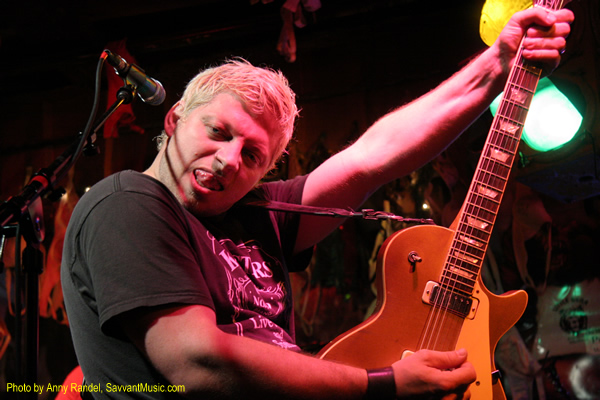 Mike Butterworth hams it up at The Little Bear Saloon