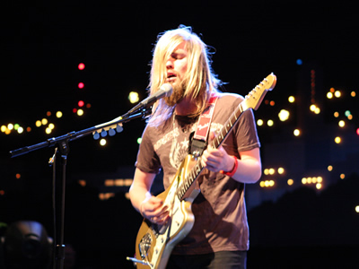 Russell Marsden of Band of Skulls at PBS Party at SXSW Interactive at the Austin City Limits Studio